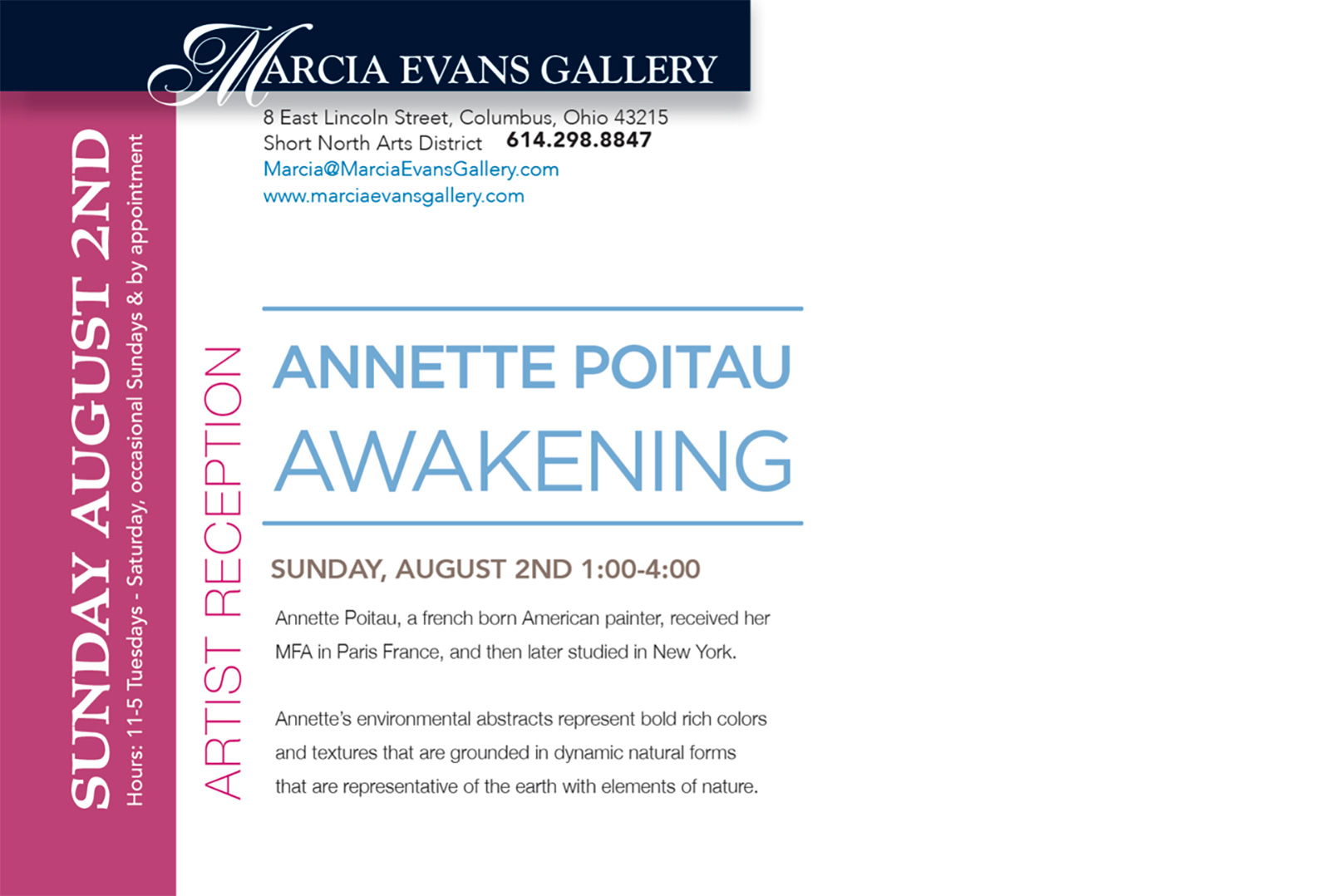 Annette Poitau Awakening, New Abstracts Gallery Show in the Short North