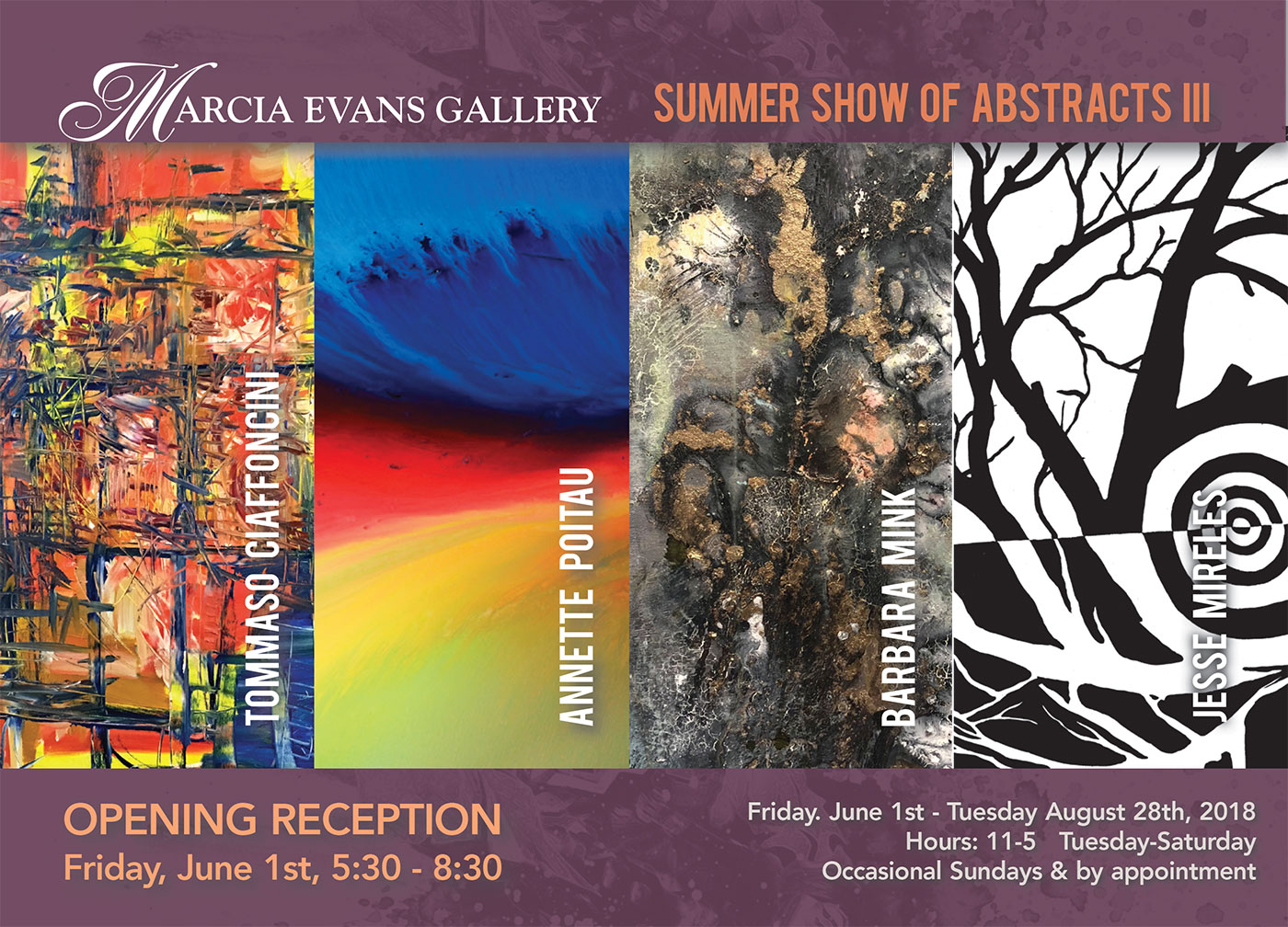 Summer Art Show of Abstracts