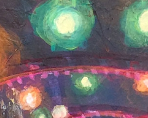 """Pink Arches 8""""x10"""" Mixed Media on Panel - Sold"""